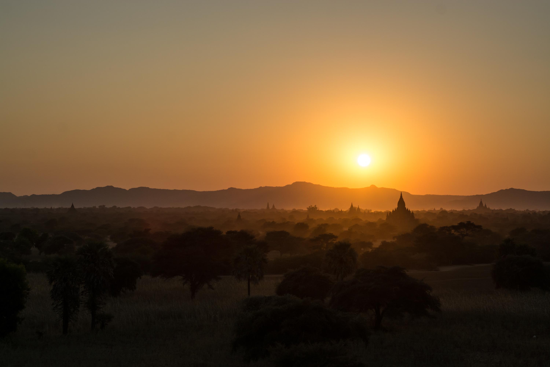 Sunset on Bagan, Myanmar